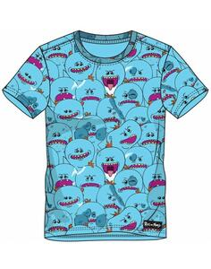T-Shirt Unisex Tg. XL Rick And Morty. Aop Mr. Meeseeks Blue