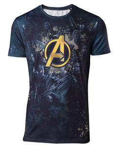 T-Shirt Unisex Tg. 2XL Avengers Infinity War. Team Sublimation Print Multicolor