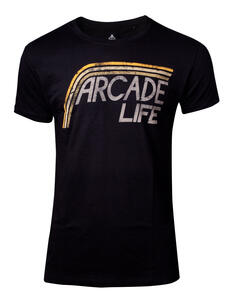 T-Shirt Unisex Tg. L Atari. Arcade Life Black