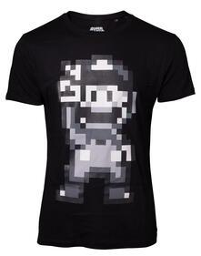 T-Shirt Unisex Tg. L Nintendo. 16-Bit Mario Peace Black