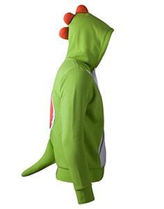 Felpa Con Cappuccio Bambino Tg. 110/116 Nintendo. Yoshi Novelty Green