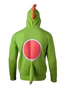 Felpa Con Cappuccio Bambino Tg. 110/116 Nintendo. Yoshi Novelty Green - 3