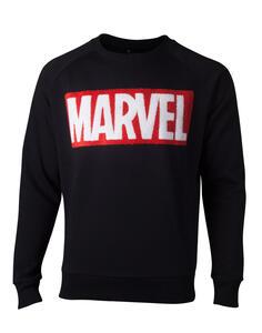Felpa Unisex Tg. XL Marvel. Chenille Box Logo Black