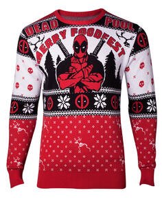 Marvel: Deadpool Knitted Christmas Men's Sweater: L Sweatshirts M Multicolor