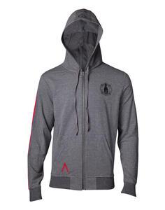 Felpa Con Cappuccio Unisex Assassin'S Creed Odyssey. Taped Sleeve Grey. Taglia S