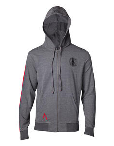 Felpa Con Cappuccio Unisex Assassin'S Creed Odyssey. Taped Sleeve Grey. Taglia L