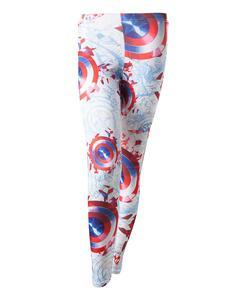 Leggings Captain America. Sublimation Printed