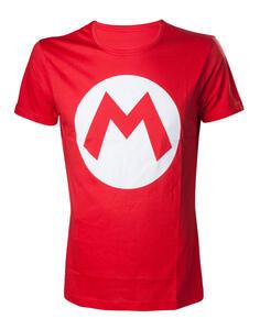 T-Shirt Unisex Tg. XS Nintendo. Mario With Logo Red