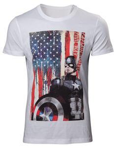 T-Shirt Unisex Captain America. Civil War White