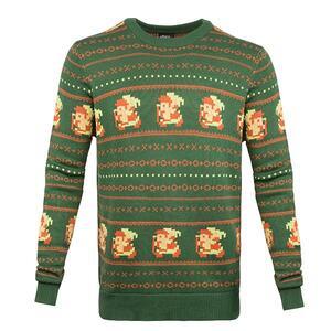 Maglione Unisex Tg. 2XL Nintendo. Zelda Christmas Sweater Green