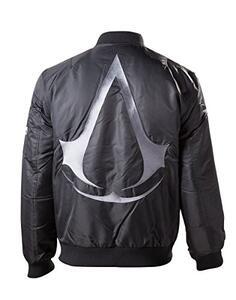 Giubbotto unisex Assassin's Creed. Bomber Jacket Black With Crest Logo On Back