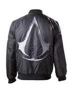 Idee regalo Giubbotto unisex Assassin's Creed. Bomber Jacket Black With Crest Logo On Back Bioworld