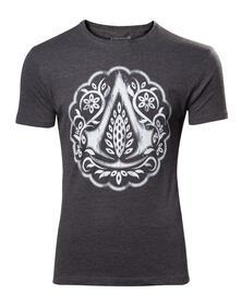 T-Shirt Unisex Tg. 2XL Assassin's Creed Movie. Florel Crest Logo Black