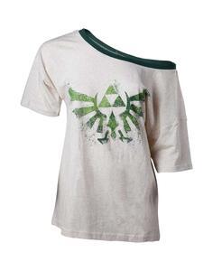 T-Shirt Donna Tg. S Nintendo. Zelda Off Shoulder Ladies T-Shirt