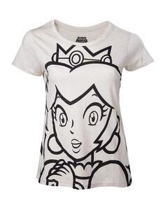 T-Shirt donna Nintendo. Princess Peach Outline White