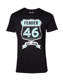 T-Shirt Unisex Tg. 2XL Fender. 46 Black