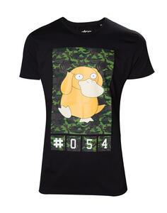 T-Shirt Unisex Tg. 2XL Pokemon. Psyduck Camo Black