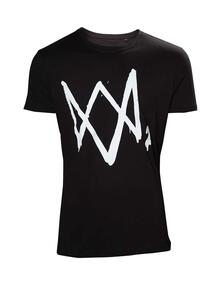 T-Shirt Unisex Tg. XL Watch Dogs 2. Black With Large Logo