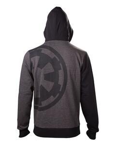 Felpa Con Cappuccio E Zip Unisex Tg. M Star Wars Rogue One – Imperial Emblem Zipper Hoodie