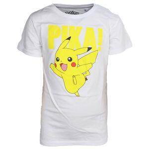 T-Shirt Bambino 98/104cm Pokemon. Kids White Pikachu