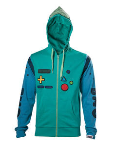 Felpa Con Cappuccio Tg. L Adventure Time. Bmo Inspired Cosplay Blue