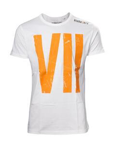 T-Shirt Unisex Resident Evil. Big Game Logo Resident Evil 7 White