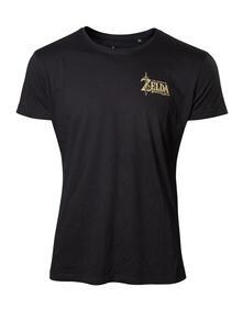 T-Shirt Unisex Zelda Breath Of The Wild. Golden Game Logo On Back