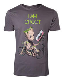 T-Shirt Unisex Guardians Of The Galaxy. I Am Groot Grey
