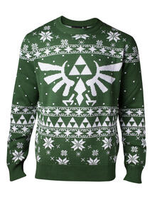 Nintendo: Legend Of Zelda . Knitted Zelda X-Mas Sweater: M Jumpers M Green