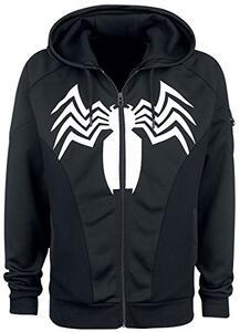 Felpa Con Cappuccio Unisex Tg. S Spiderman. Venom Black