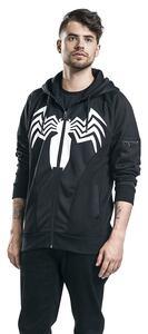 Felpa Con Cappuccio Unisex Tg. S Spiderman. Venom Black - 13