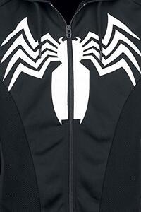 Felpa Con Cappuccio Unisex Tg. S Spiderman. Venom Black - 3