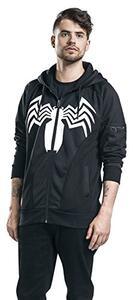 Felpa Con Cappuccio Unisex Tg. S Spiderman. Venom Black - 6
