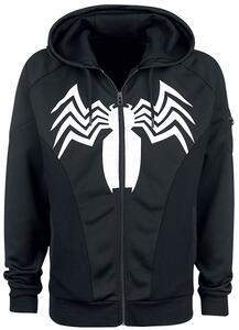 Felpa Con Cappuccio Unisex Tg. S Spiderman. Venom Black - 8