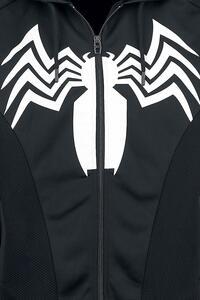Felpa Con Cappuccio Unisex Tg. S Spiderman. Venom Black - 10