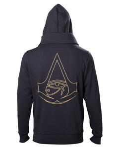 Felpa Con Cappuccio Unisex Tg. L. Assassin'S Creed Origins – Crest Logo Double Layered Hoodie