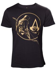 T-Shirt Unisex Tg. 2XL Assassin'S Creed Origins. Golden Bayek And Crest Logo Black