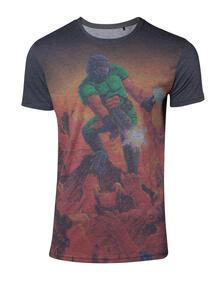 T-Shirt Unisex Tg. XL Doom. Box Art Sublimation Multicolor