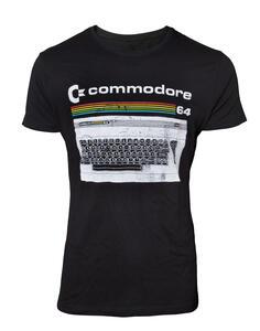 T-Shirt Unisex Tg. S Commodore 64. Classic Keyboard Black