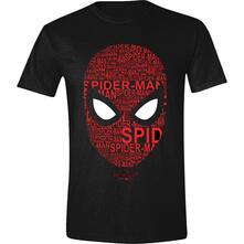 T-Shirt Unisex Tg. XL Spider-Man - Face Letters Black