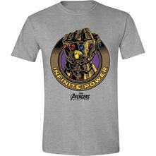 T-Shirt Unisex Tg. S Avengers: Infinity War. Infinite Power Grey Melange