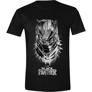 T-Shirt Unisex Tg. XL Black Panther. Mask & Logo Black
