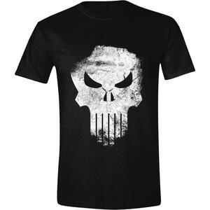 T-Shirt Unisex Tg. XL Punisher. Distressed Skull Black