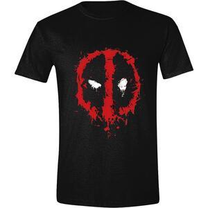 T-Shirt Unisex Tg. S Deadpool. Splatter Logo Black