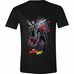 T-Shirt Unisex Tg. M Ant-Man And The Wasp. Characters Pose Black