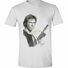 T-Shirt Unisex Tg. L Star Wars. Han Solo Portrait White