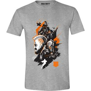 T-Shirt Unisex Call Of Duty Black Ops 4. Characters Montage Heather Grey. Taglia M
