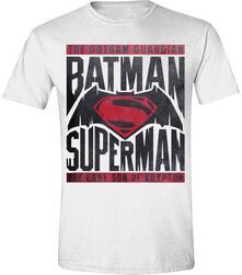 T-Shirt unisex Batman v Superman. Logo Text