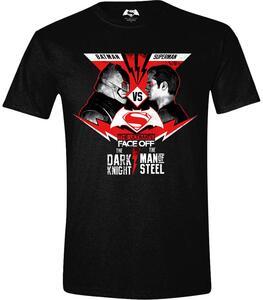 T-Shirt unisex Batman Versus Superman. Face Off Black