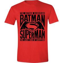 T-Shirt unisex Batman v Superman. Logo Text Red